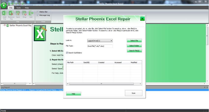 使用修复工具修复损坏的Excel文件的步骤1