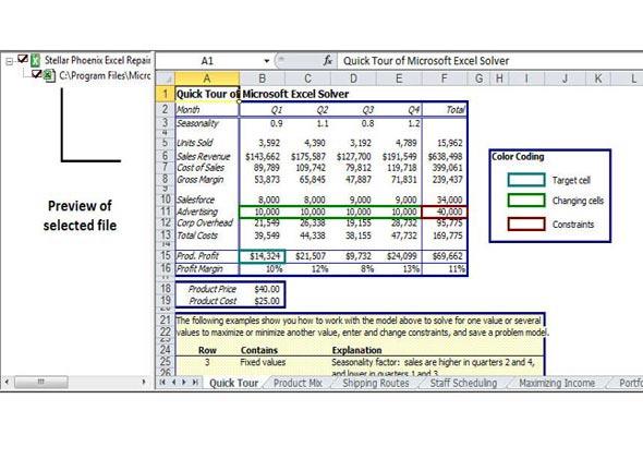 使用修复工具修复损坏的Excel文件的步骤3