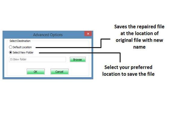 使用修复工具修复损坏的Excel文件的步骤4