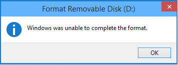 无法格式化USB闪存驱动器错误
