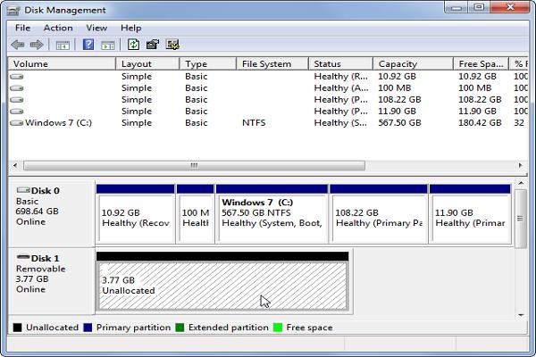 修复Windows上无法识别的硬盘驱动器步骤3