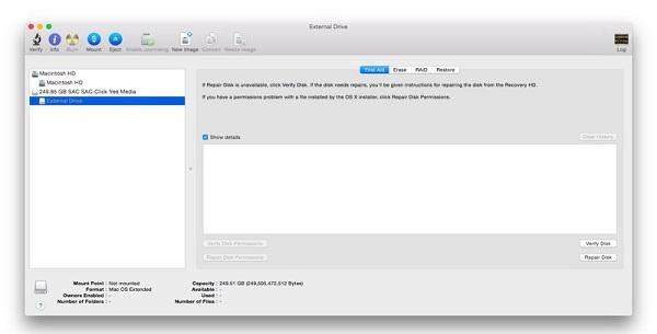 修复MAC步骤3无法识别的硬盘