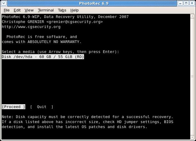 PhotoRec免费照片恢复软件