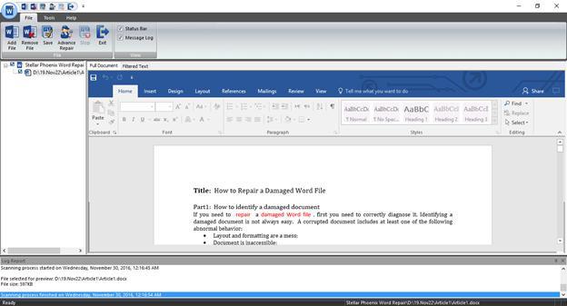 从损坏的Word文件中恢复文本,第3步