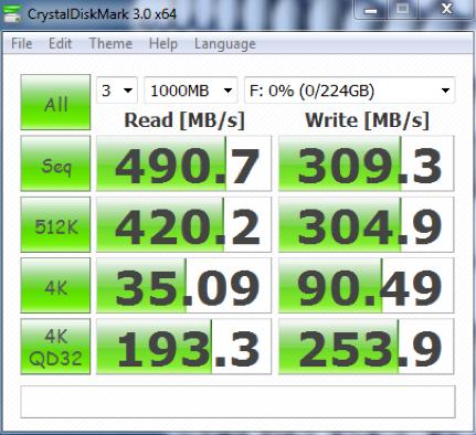 用于测试Windows硬盘速度1的CrystalDiskMark