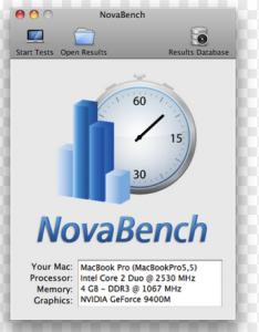 Mac- Nova Bench-1硬盘测试