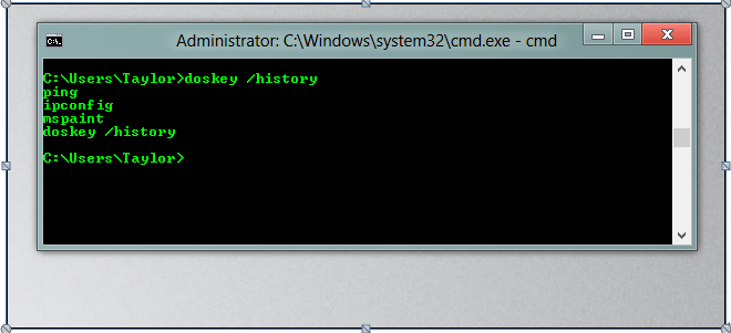 使用命令历史记录删除文件