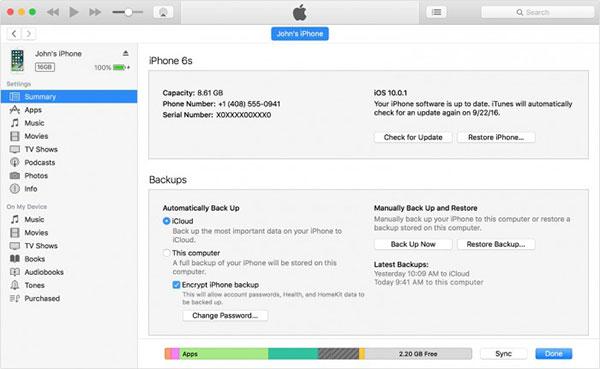 使用iTunes恢复iMessages信息-1