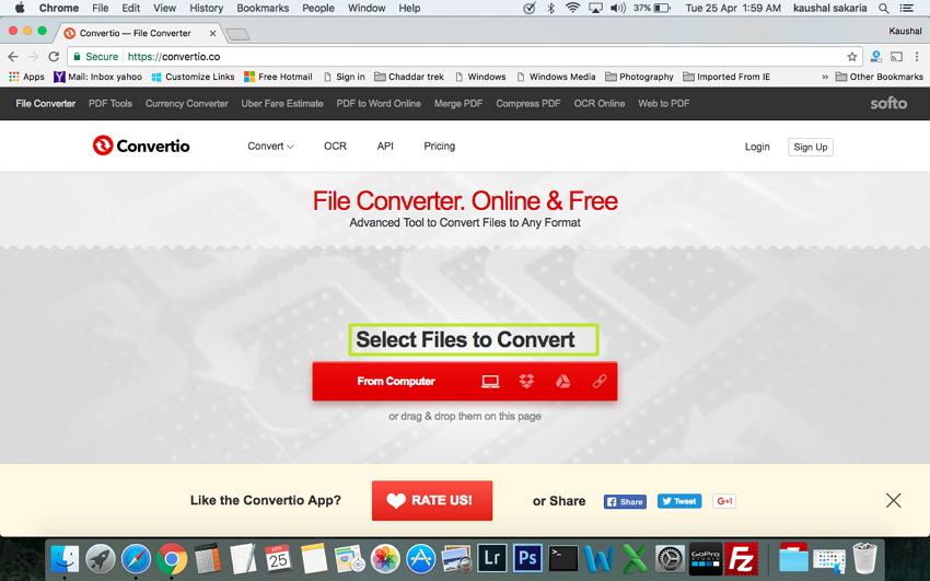 在Mac上将MTS / M2TS转换为MP4  - 选择要转换的文件
