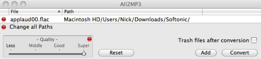 免费flac转换器Mac  -  All2MP3