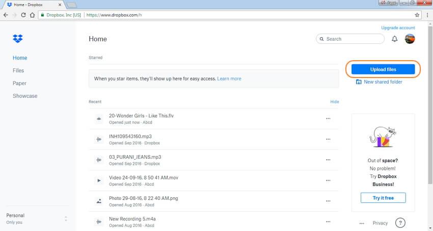 如何使用Dropbox压缩电子邮件的视频文件