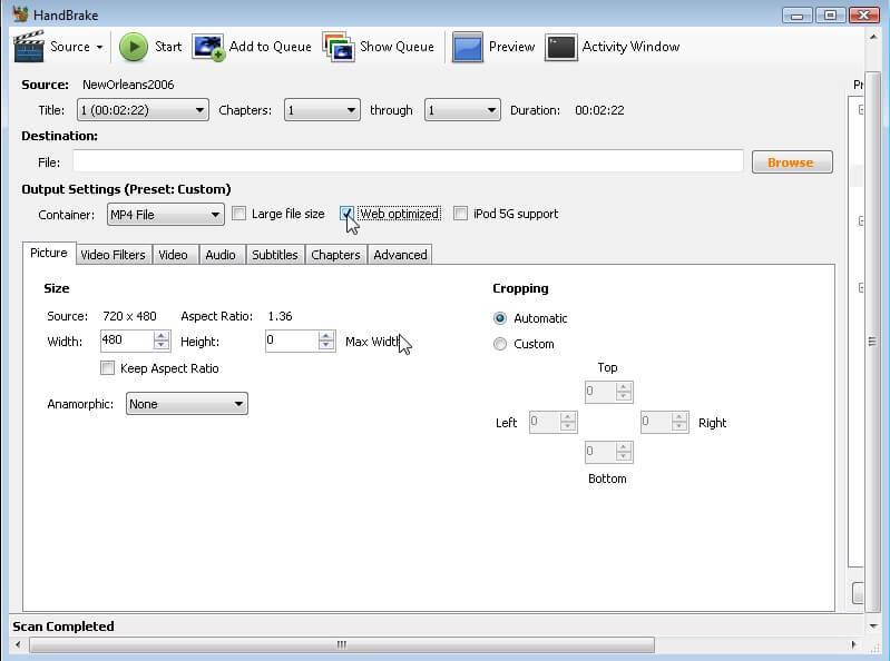 使用HandBrake压缩MKV文件