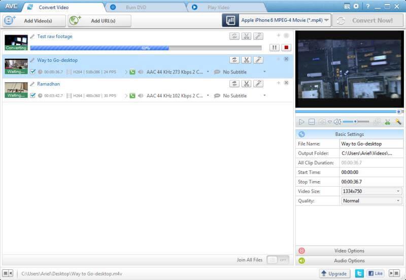 使用Any Video Converter压缩MP4
