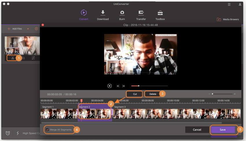 在Mac上压缩MP4切割MP4视频