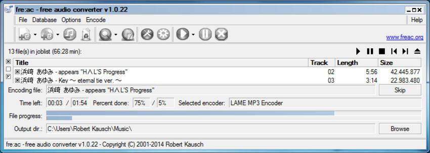 免费flac转换器Mac  -  fre:ac