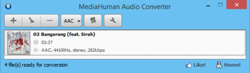 免费flac转换器Mac - MediaHuman音频转换器