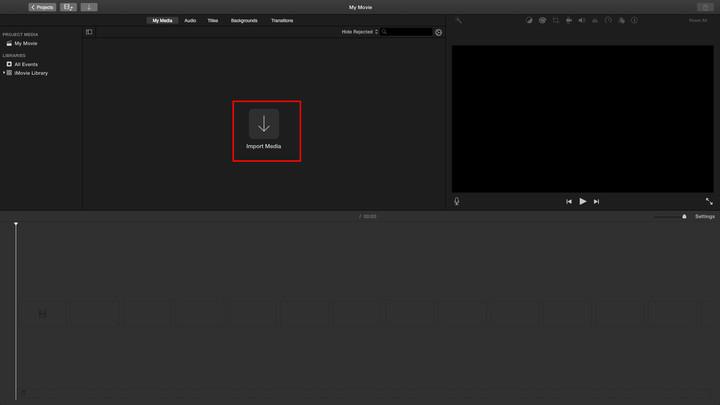 将MOV文件添加到iMovie