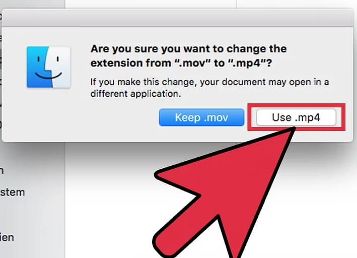 使用Quicktime将MOV转换为MP4 Mac