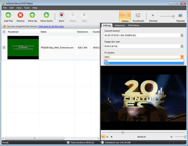 Sothink DVD Maker  -  DVD刻录机