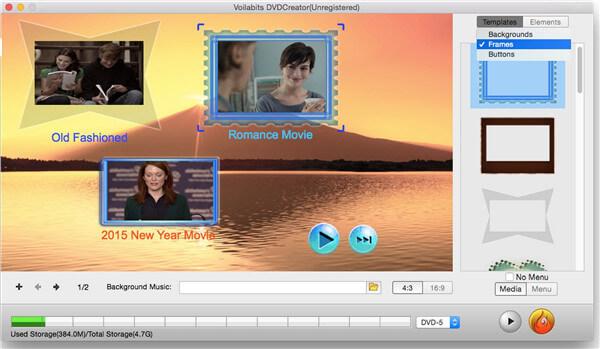 MP4到DVD刻录机-Voilabits DVD Creator for Mac