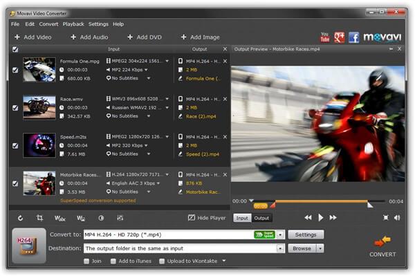 MP4转DVD刻录机 -  Movavi视频转换器