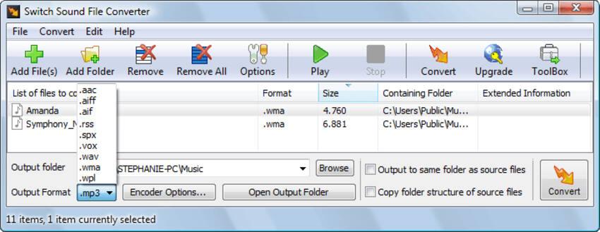 免费flac转换器Mac  -  Switch音频文件转换器